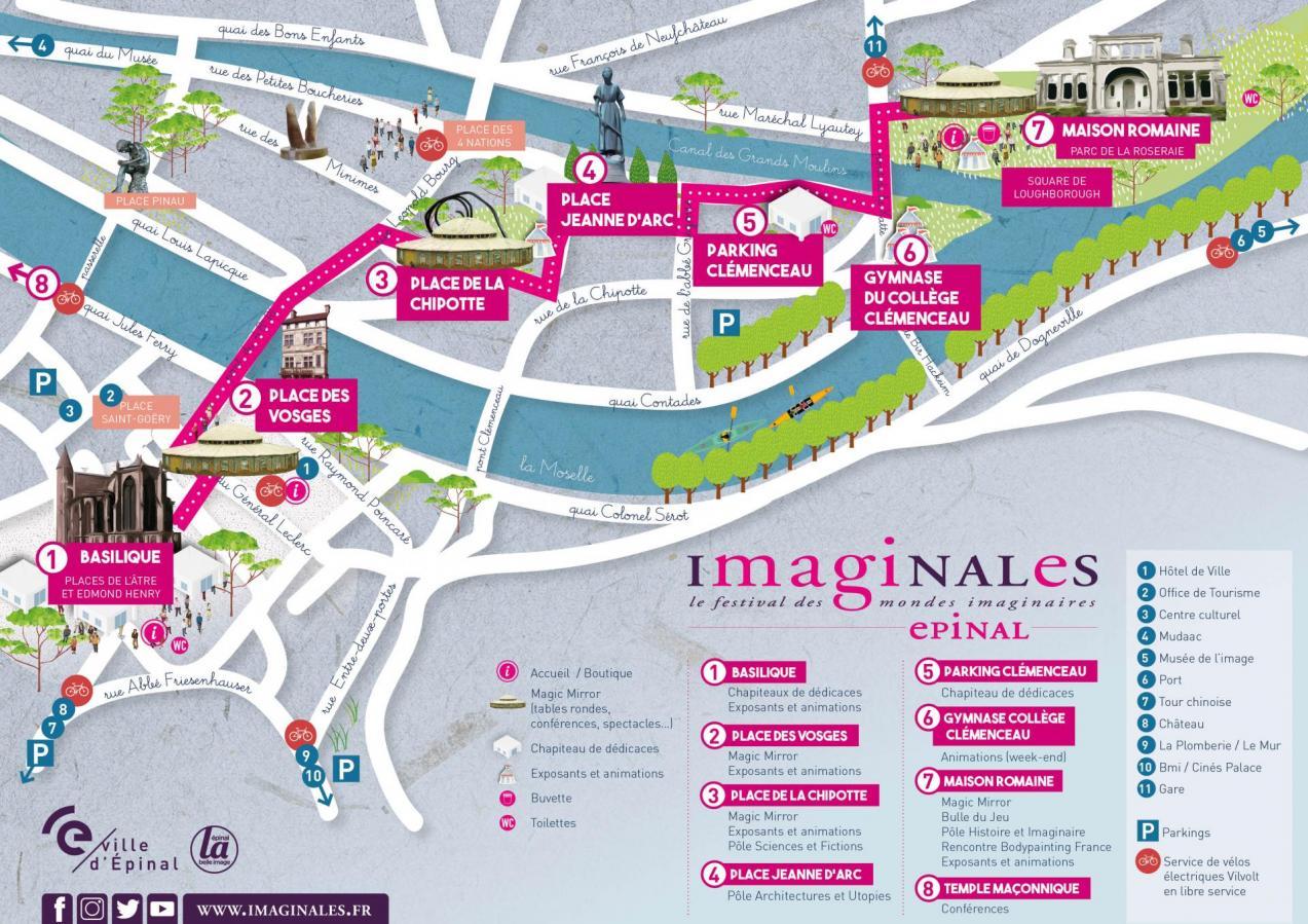 Plan imaginales centre ville